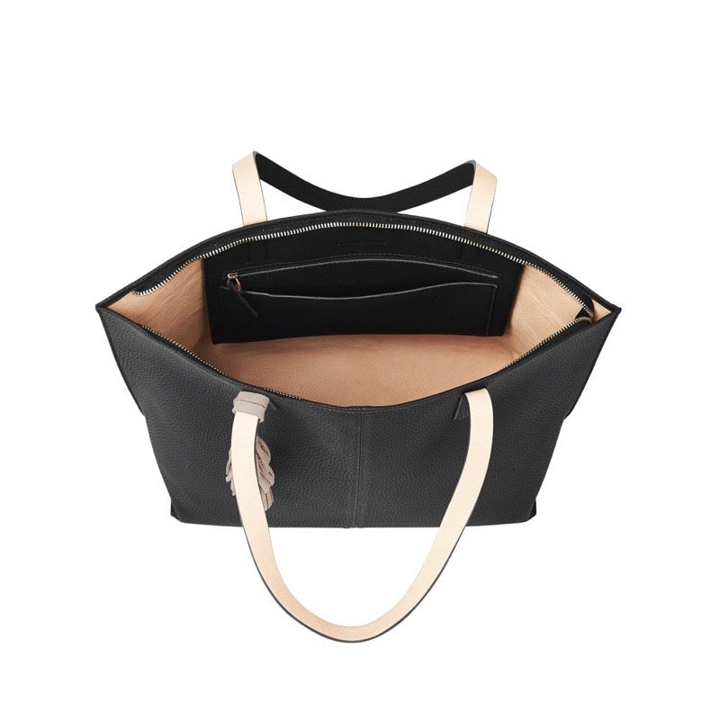 Elms & King Bowery Tote Bag Black Afterpay available