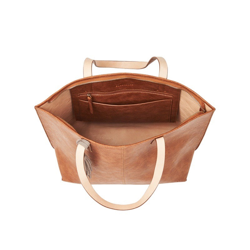 Elms & King Bowery Tote Tan Pebble Afterpay available