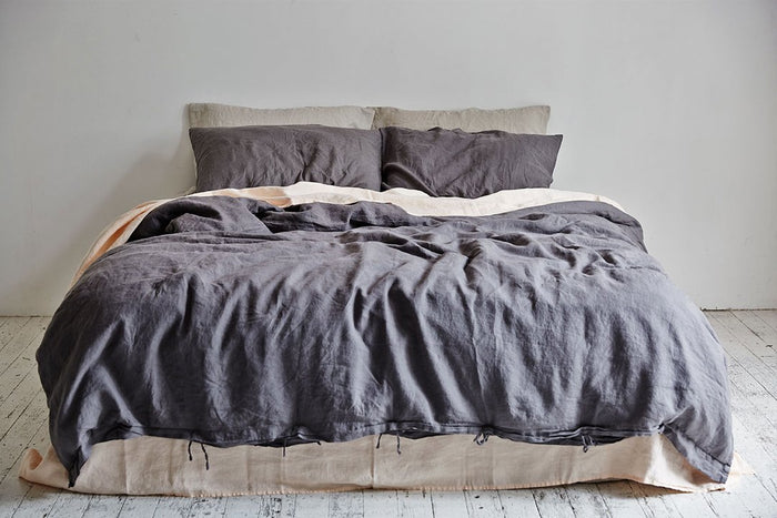 In Bed Linen Sheets Duvet Cover Charcoal