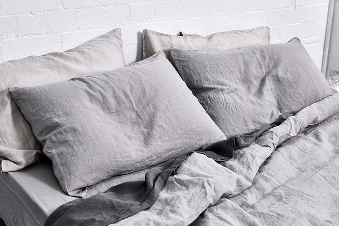 In Bed linen pillowslip pillowcase cool grey standard