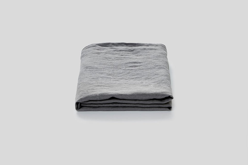 In Bed Linen Flat Sheet Cool Grey King Size