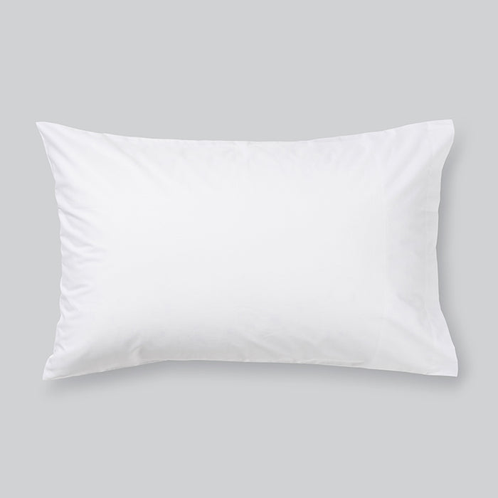 In Bed cotton sheets white pillow case