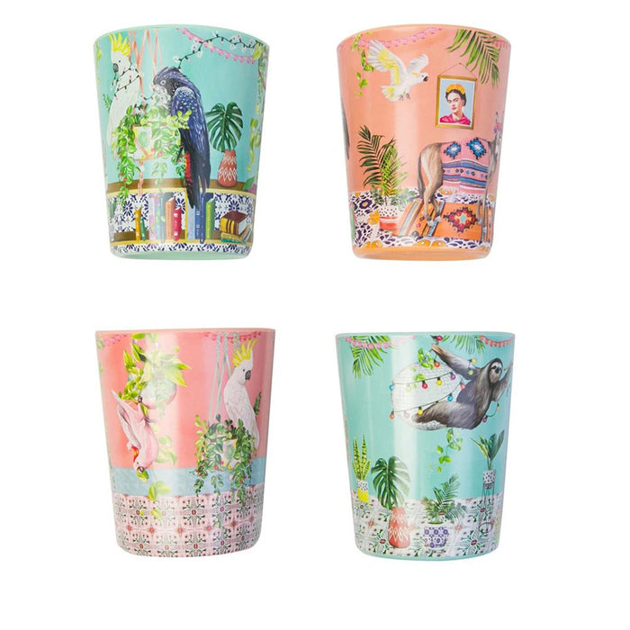 La La Land Melamine Cup Set Tropical Abode