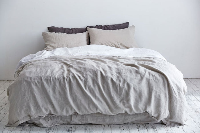 In Bed Linen Sheets Duvet Cover Dove Grey