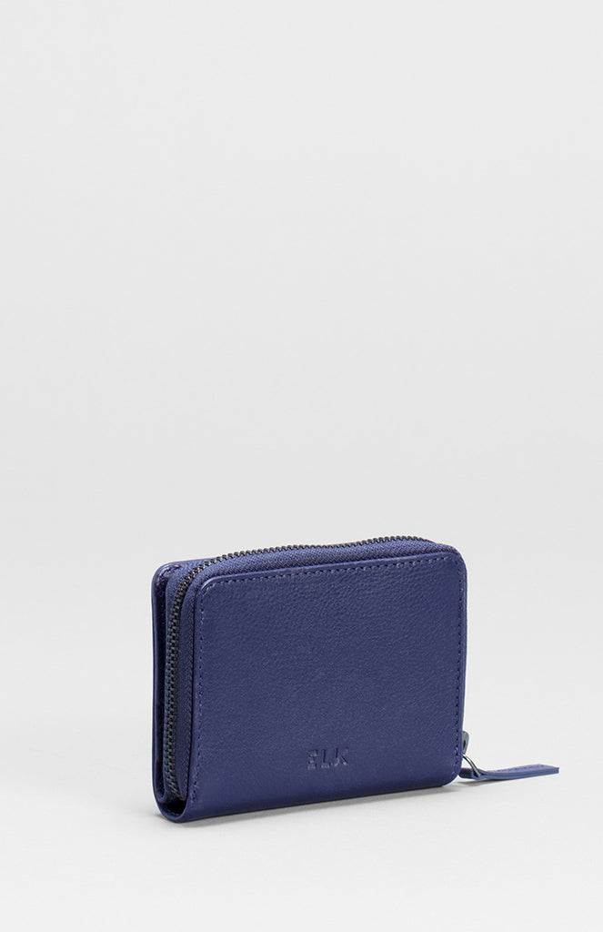 Elk The Label - leather accessories - Forbi wallet Iris Blue