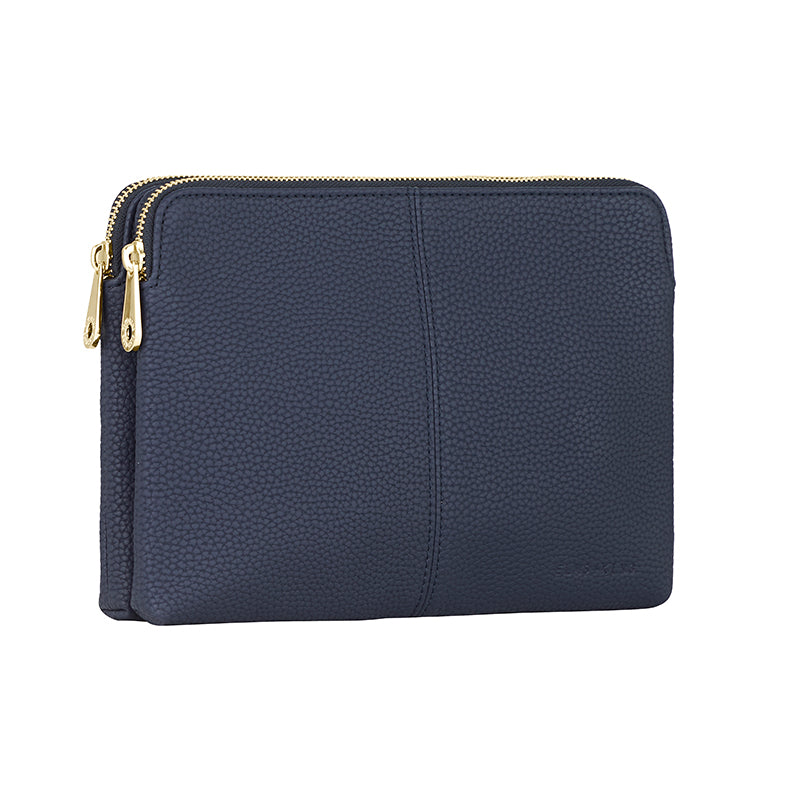 Elms & King Double Bowery Bag French Navy Afterpay available