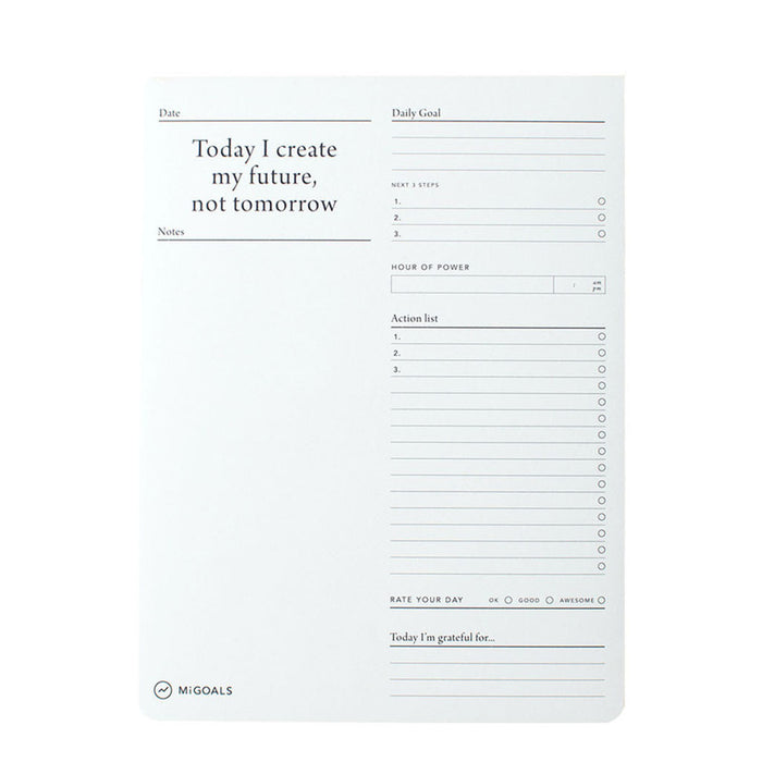 MiGoals - Daily Goals Desk Pad - B5