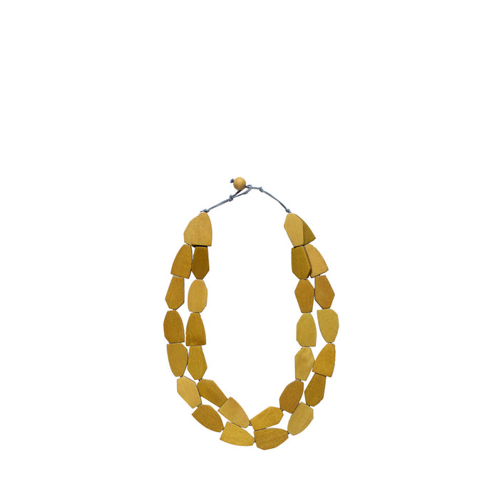 ELK - Gruva 3 Row Necklace - Yellow