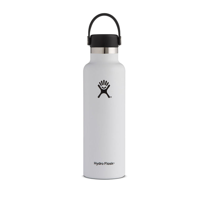 Hydro Flask 21oz Standard Mouth Insulated Bottle White