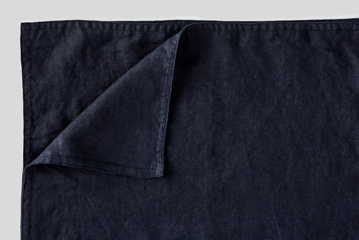 IN BED - Linen Placemat Set - Navy