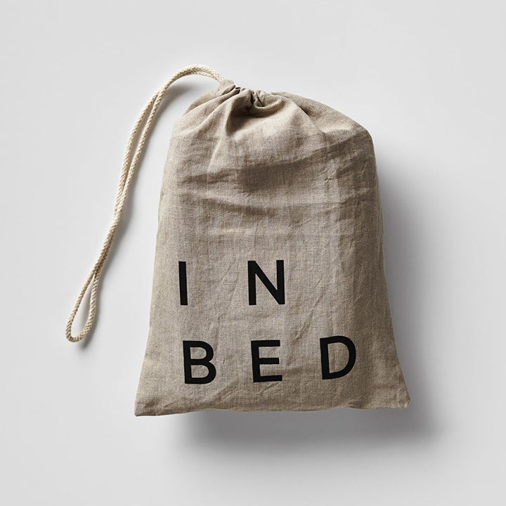 IN BED - Linen Fitted Sheet - Navy - King