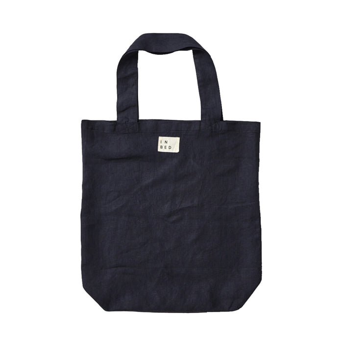 IN BED - 100% Linen Market Bag - Navy