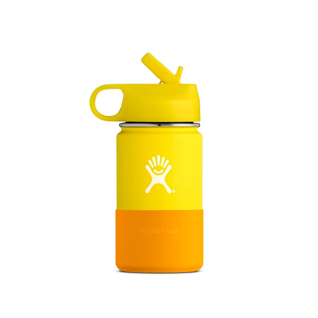Hydro Flask 12oz Kids Insulated Water Bottle Lemon