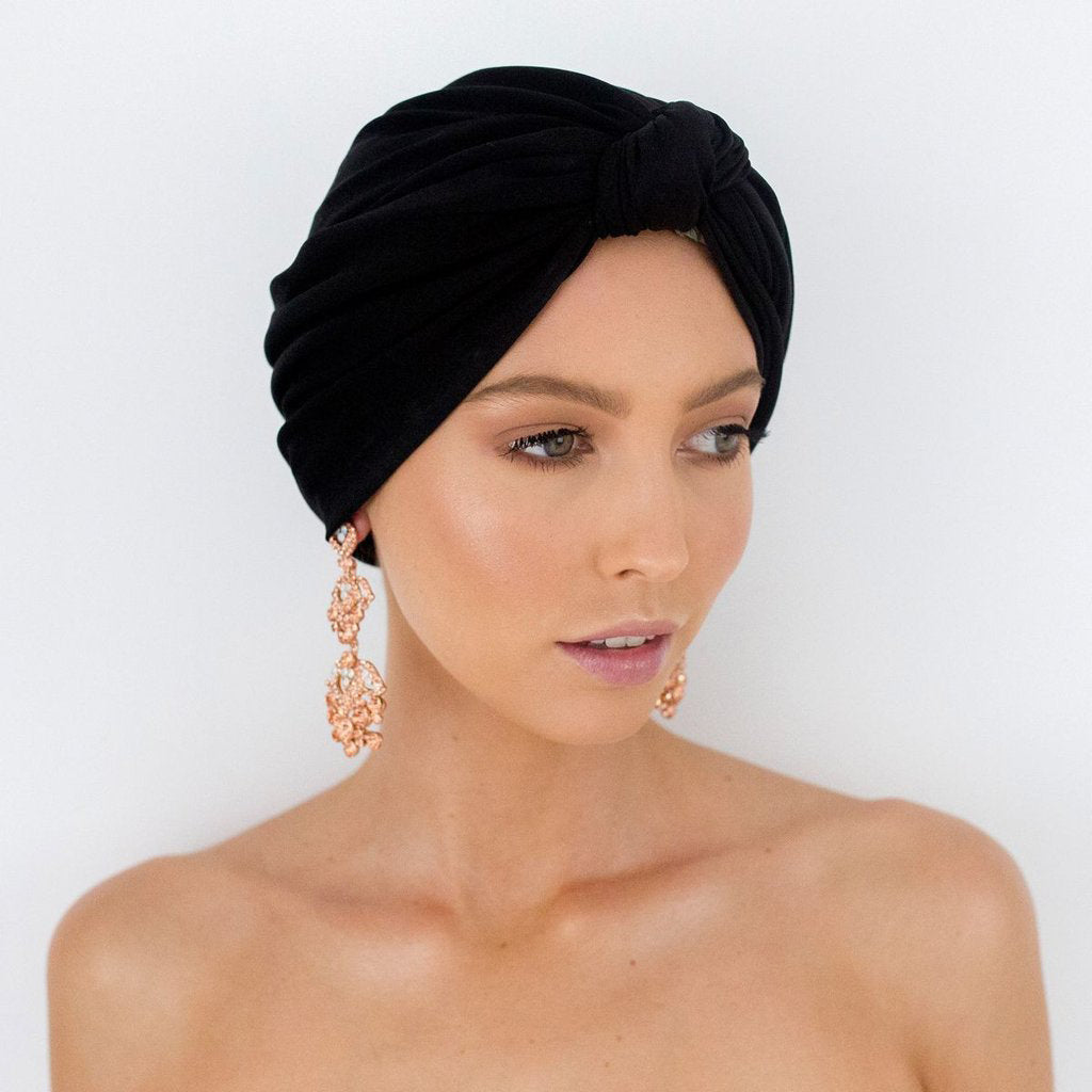 Louvelle Dahlia Shower Cap Black