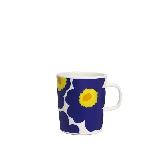 Marimekko - Oiva Unikko Mug 2.5dl - White, Dark Blue & Yellow