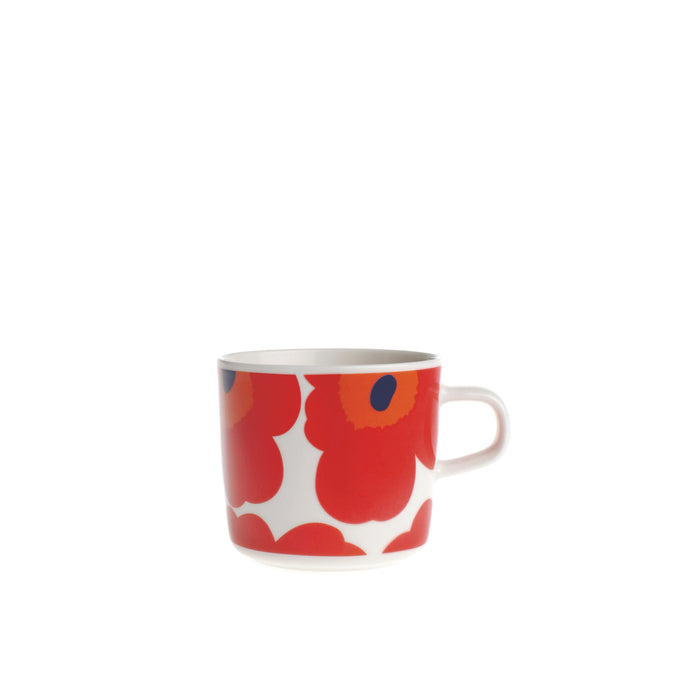 Marimekko - Oiva Unikko Coffee Cup 2dl - White, Red