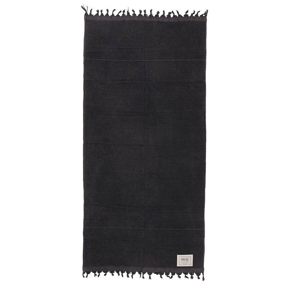 MAYDE - Middle Cove Towel - Charcoal
