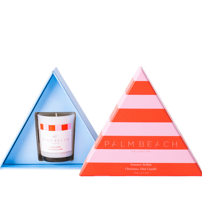 Palm Beach Collection - Mini Triangle Candle - Summer Bellini