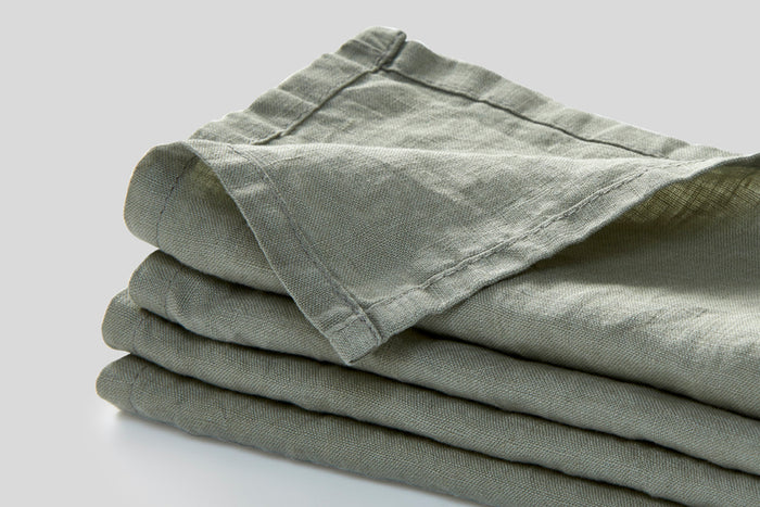 IN BED - Linen Napkin Set - Stone
