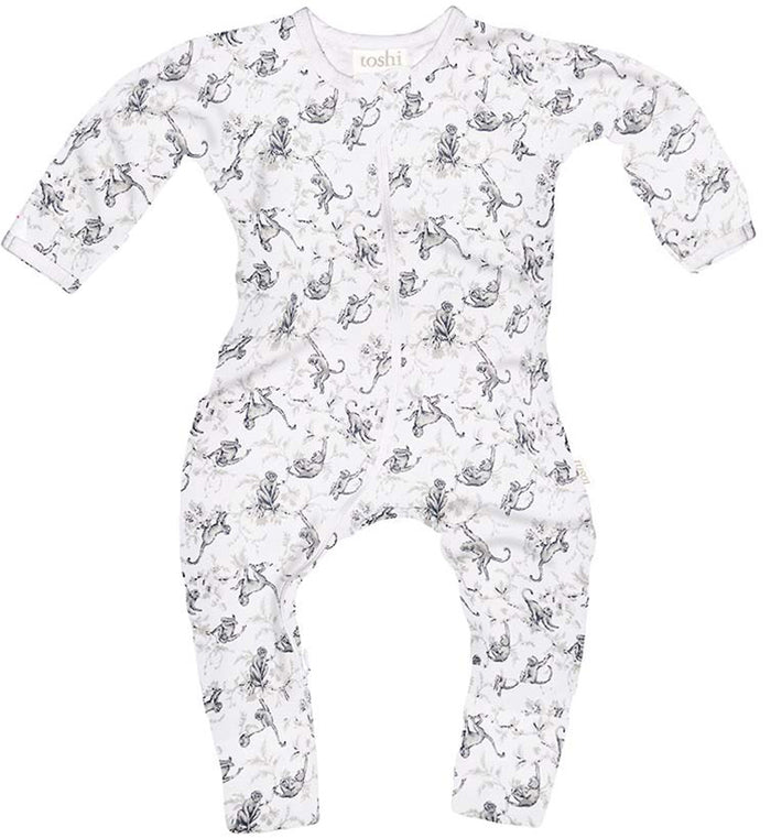 Toshi - Long Sleeve Onesie – Monkeys