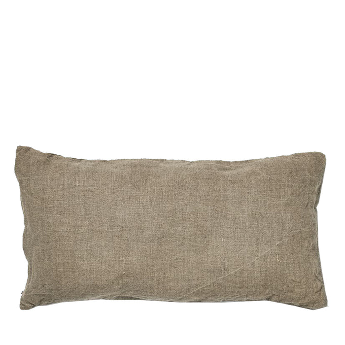 IN BED - 100% Linen Rectangle Cushion - Natural