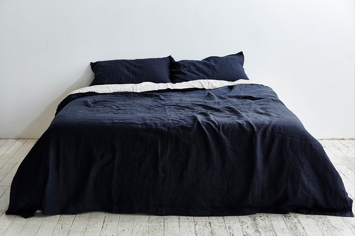 In Bed Linen Sheets Duvet Cover Navy