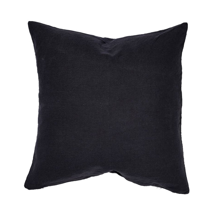 IN BED - 100% Linen Square Cushion - Navy