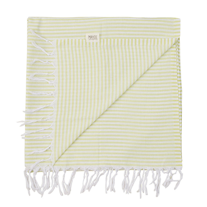 Mayde - Noosa Towel - Lime & White