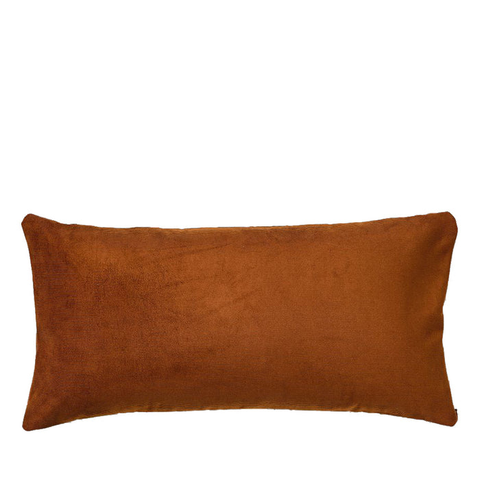IN BED - Organic Cotton Rectangle Cushion - Burnt Orange