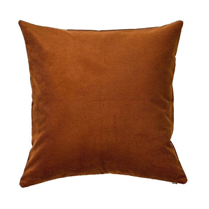 IN BED - Organic Cotton Square Cushion - Burnt Orange