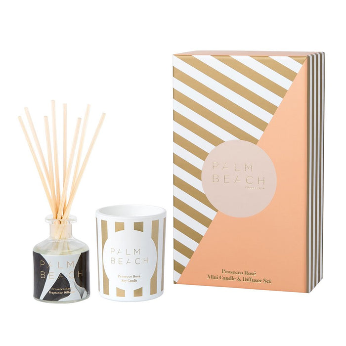 Palm Beach Collection - Mini Christmas Candle/Diffuser Pack - Prosecco Rosé
