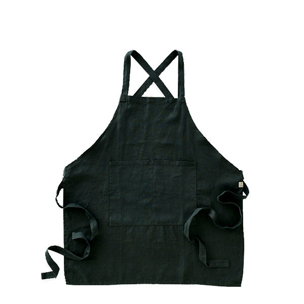 IN BED - 100% Linen Apron - Pine