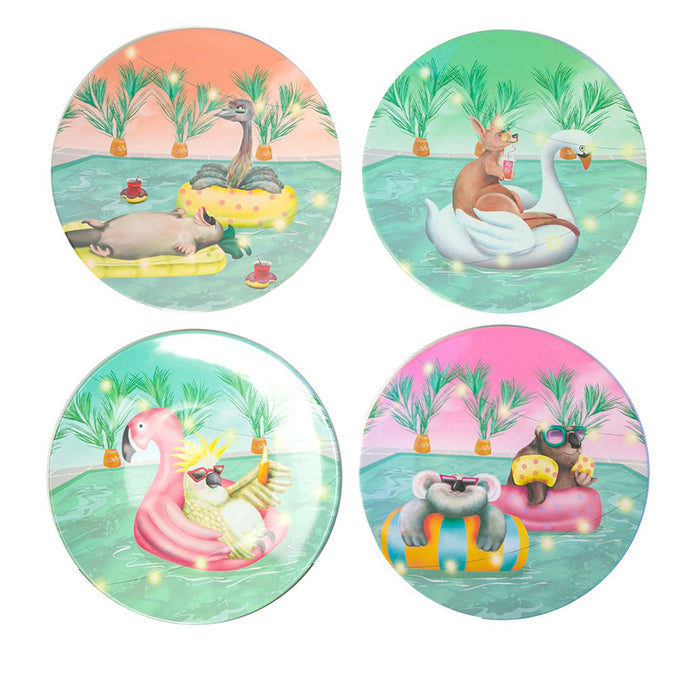 La La Land Melamine Plate Set Floating Fuzzies