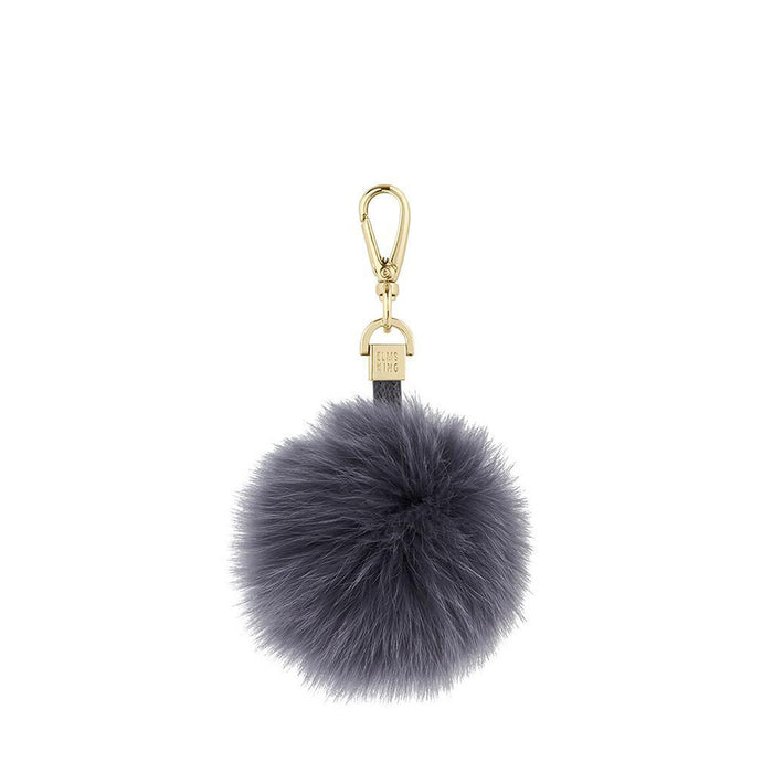 Elms & King - Fur Pom Pom - Charcoal