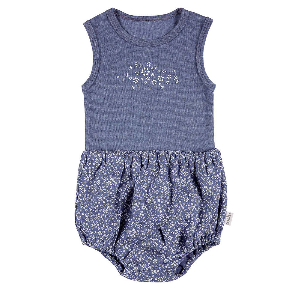 Toshi Singlet & Bloomer Set Mae Bluebell