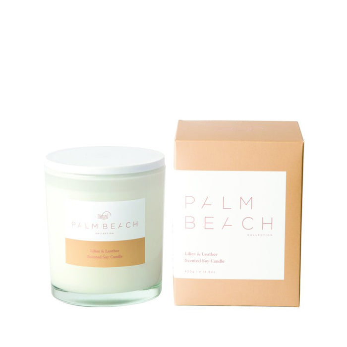 Palm Beach Collection - Standard Candle - Lilies & Leather