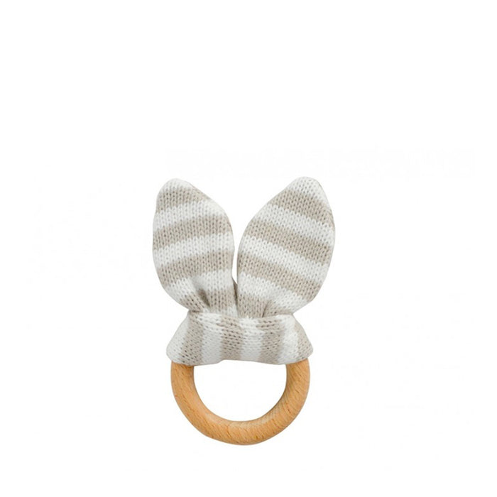 Annabel Trends - Bunny Ear Teether - Natural Stripe