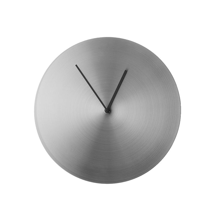 Menu - Wall Clock - Brushed Steel