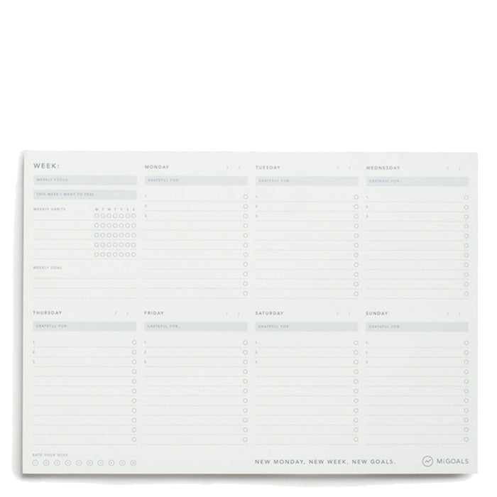 MiGoals - Weekly Desk Pad - A4
