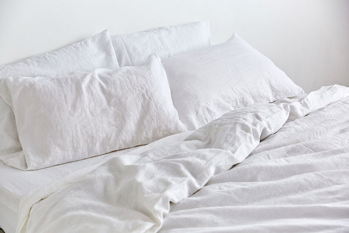 In Bed linen pillowslip pillowcase white standard