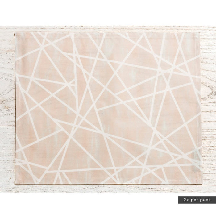 Basil Bangs Placemats Geometric Powder Sarah Ellison