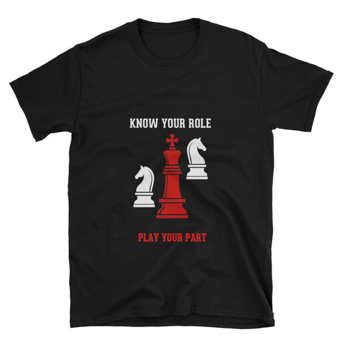 Know Your Role Black Shirt S-3xl