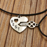 Vintage Fashion Necklace Collectible Cute Silver Womens Girls Chain and BFF Best Friend Charm