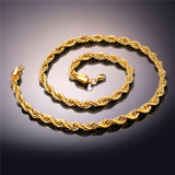 gold rope chain rope chain gold plated rope chain