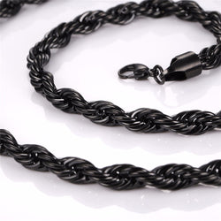 Gun Metal Hip Hop Rope Chain Mens Fashion Swag for the Low