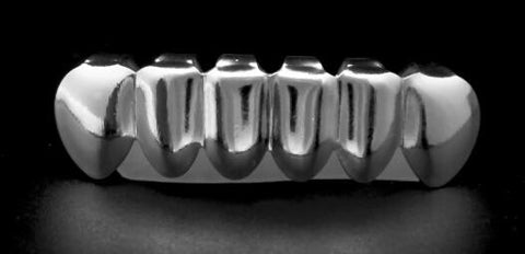 Silver Bottom Grillz