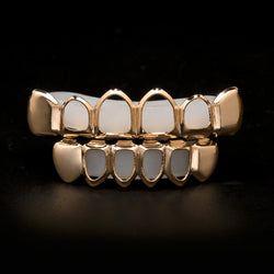 rose gold open face grillz hip hop jewelry rose gold jewelry rose gold teeth open face