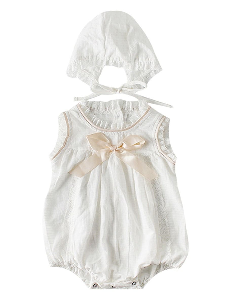 2-Piece Spanish Baby Bow Romper & Bonnet