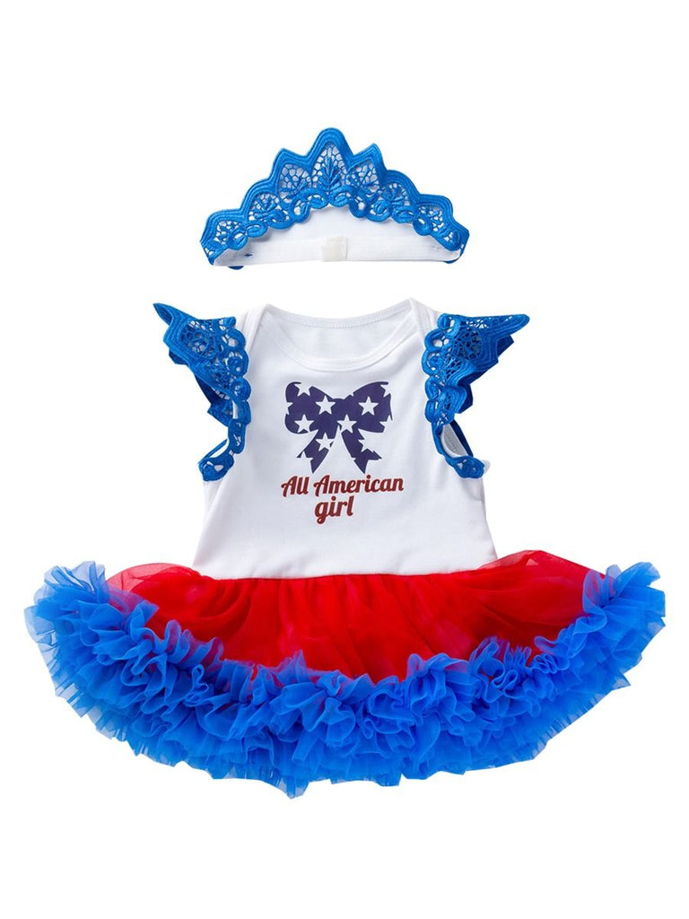 Baby Girl 2-Piece Ruffle Tutu 4th Of July Outfit