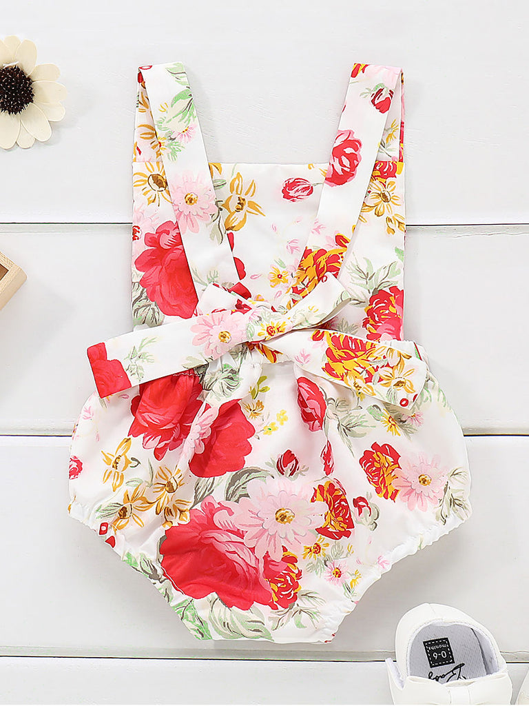 Floral Baby Girl Ruffle Romper